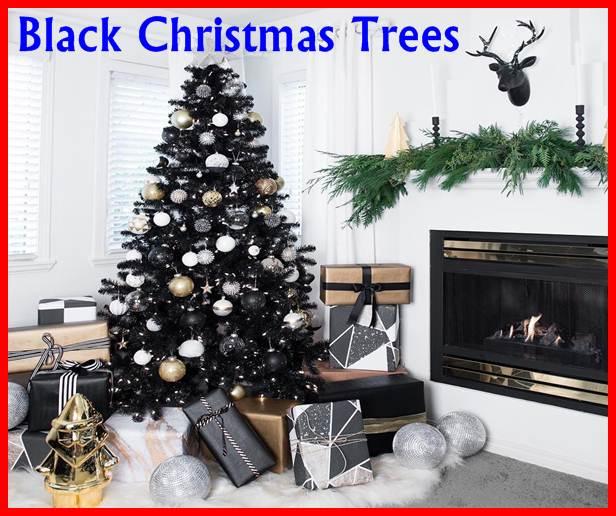 Black Christmas Trees