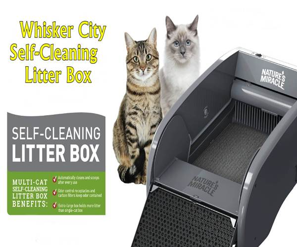 Whisker City Self-Cleaning Litter Box