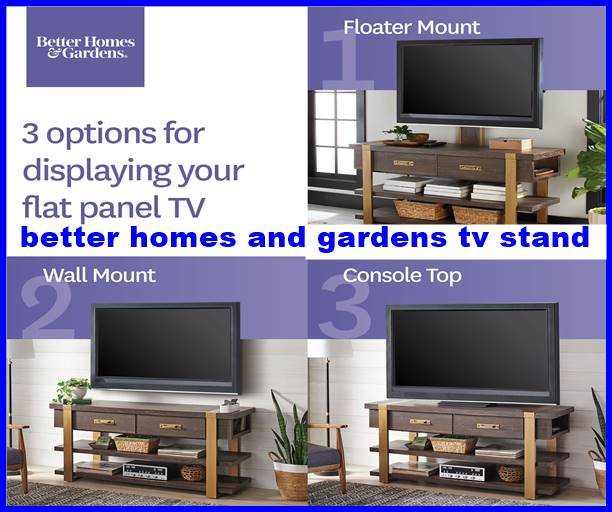better homes and gardens tv stand