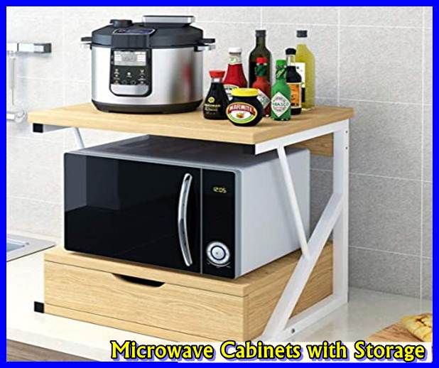 Microwave Cabinets with Storage