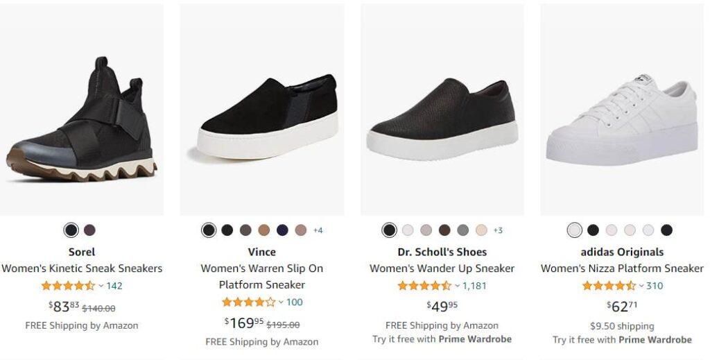 White Platform Sneakers