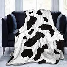 Amazon.com: XTGOO Black White Cow Print Print Flannel Fleece Blanket Throw  Ultra-Soft Velvet Plush Throw Blanket: Home & Kitchen