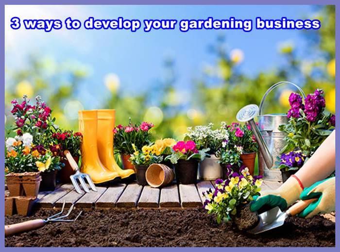 3 ways to develop your gardening business